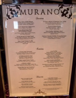 Murano Menu for Today